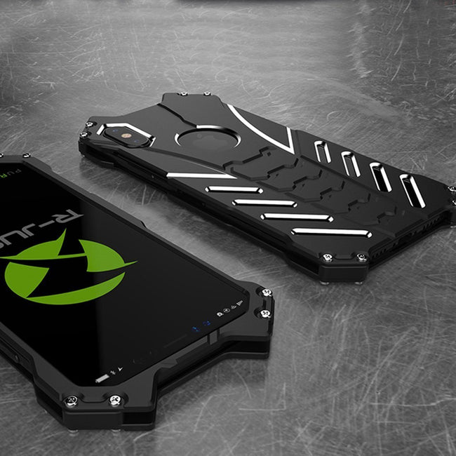 iPhone X/XS R-Just Batman Armor Luxury Ultra High Protection Metal Aluminium Case