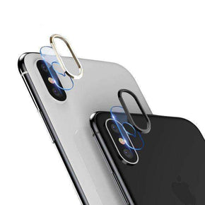 iPhone X/XS TOTU® Camera Lens Ring Screen Protector Transparent Tempered Glass