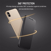 iPhone X Rock® 100% Original LED View DRV Flip Black Matte Case