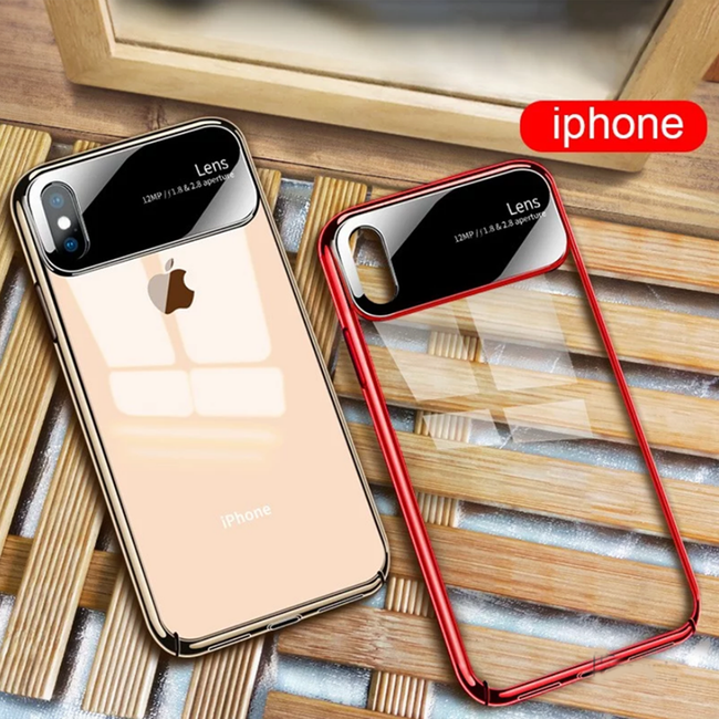 iPhone XR Henks® Luxurious Transparent Lens Hard Case
