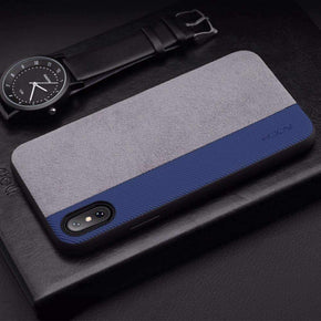 Rock® iPhone X 100% original Half Wrapped Leather Cover Case