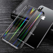 iPhone X/XS Henks® Tempered Glass Cool Rainbow Effect AURORA Case