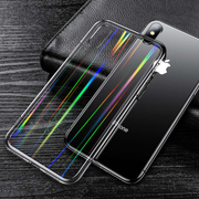 iPhone XR Henks® Tempered Glass Cool Rainbow Effect AURORA Case