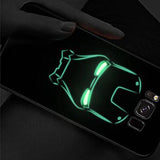 OPPO F11 Pro Radium Iron Man logo Glow Light Illuminated Case ( Iron Man Logo)