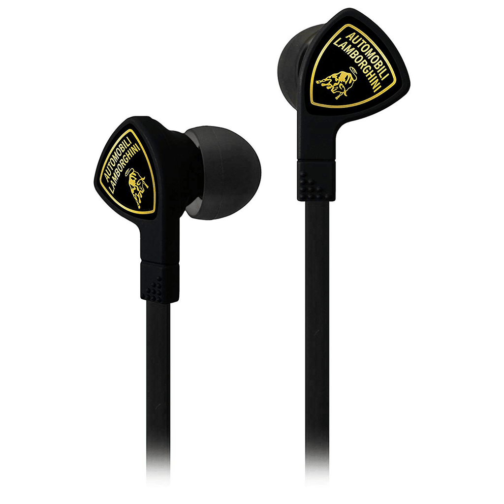 Automobili Lamborghini in Ear Headphone with Ear Canal Fit and Comfort Fit Ear Tips (Black)