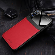 Oplore Lens Protection Genuine Galaxy Note 10 Leather Case - Red