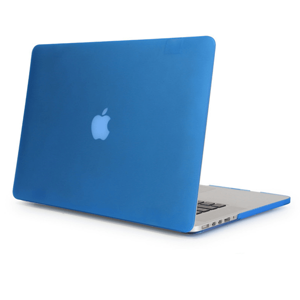 Apple MacBook Air Blue Retina Case Clear Laptop Cover With Logo Cut (Matte Finish)
