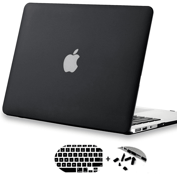 Macbook Air 3in1 Combo Set With Glossy Blue Laptop Case, Keyboard Protector Skin And Anti Dust Plug Set