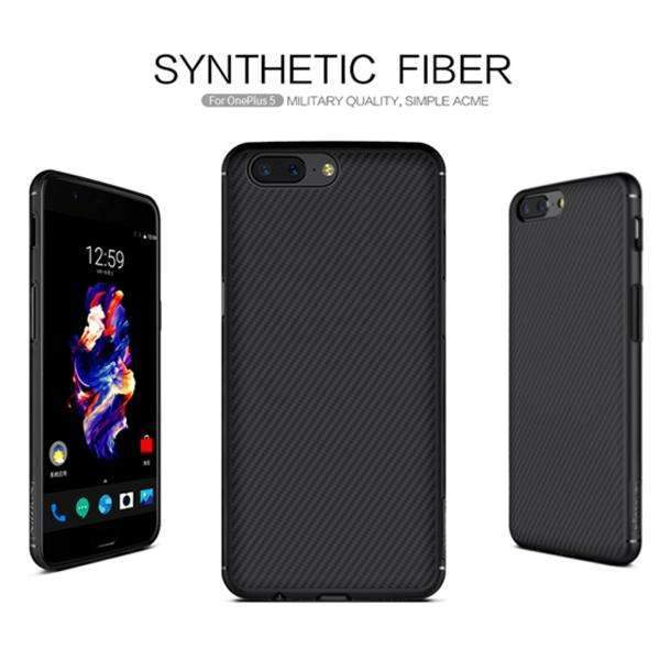 Nillkin 100% Genuine OnePlus 5 Ultra Protection Synthetic Fiber Anti-scratch Case (Includes 4D Tempered Glass)