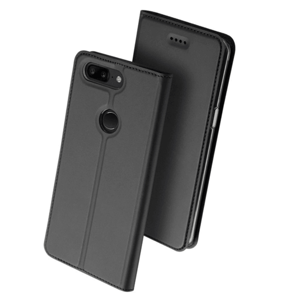 DUX DUCIS® Skin OnePlus 5T Flip PU Leather Cover with Card Slot Case (Black)