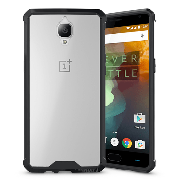 OnePlus 3/3T Air Hybrid Ultra Protection TPU & Clear Hard Acrylic Back Case