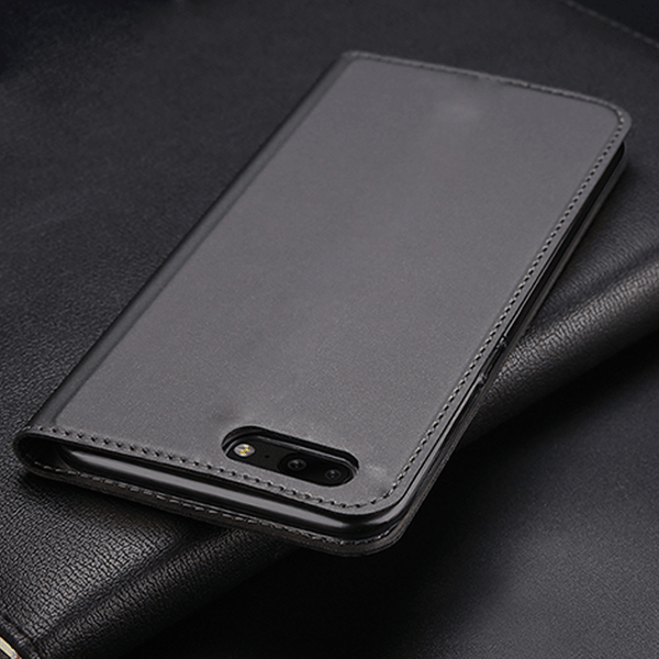 OnePlus 5 Flip 360° Full Protection Genuine Leather Case with Sleep Wake Up Card Slot