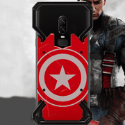 OnePlus 7 R-Just Captain America Armor Metal Protection Back Case