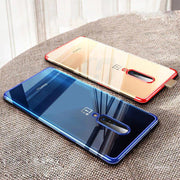 Clear Glitter Back Cover For OnePlus 7 Pro Transparent Shockproof Case