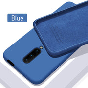 OnePlus 7T Pro Silicone Anti Slip Jelly Shockproof Case (Blue)