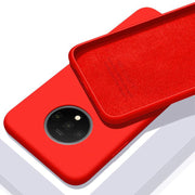 OnePlus 7T Original Silicone Anti Slip Jelly Back Case (Red)