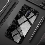 Shockproof Bumper Hardness Glass Back Cover for OnePlus 7 Pro Marble Case