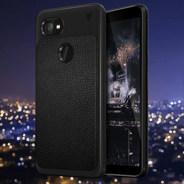 Shock Proof Anti Slip Leather Armor Case For Google Pixel 2XL Black