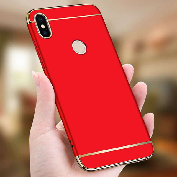 Redmi Y2, 3IN1 Ultra Protection Anti knock Electroplated Back Case