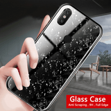 Redmi Note 5 Pro Marble Glitter Silicone Frame Shell Tempered Glass Case