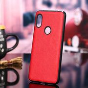 Redmi Note 5 Pro Luxury PU Leather Grain Back Case