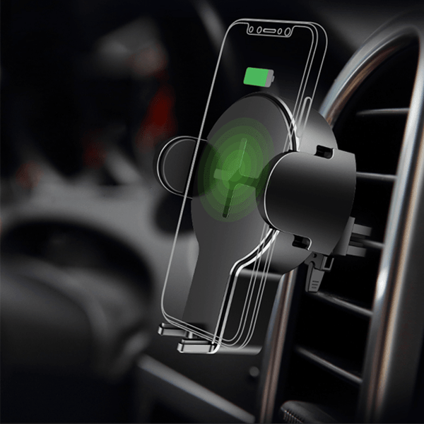 Rock® W2 Quick Wireless Car Charging Stand For iPhone & Galaxy Models