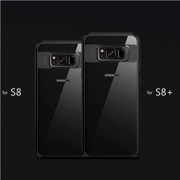 Galaxy S8 Naked Through Auto Focus Ultra Hybrid Transparent Back Case