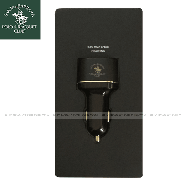 Santa Barbara Polo & Racquet Voltra 4.8A  3 USB High Speed Car Charger