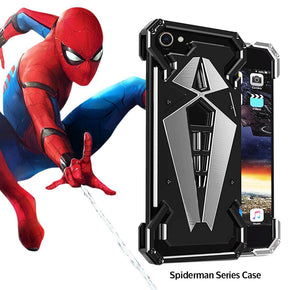 iPhone 8 R-Just Spiderman Series Armor Metal Ultra High Protection Case
