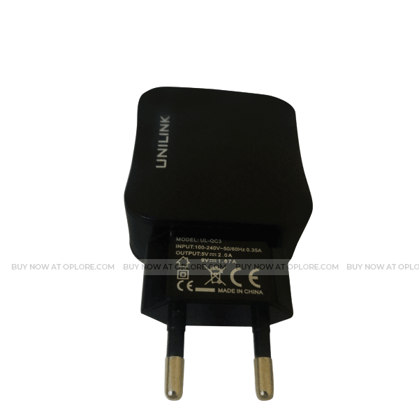 UNILINK  iPhone Quick smart chagrining USB Charger & Cable-2.0 (Black)