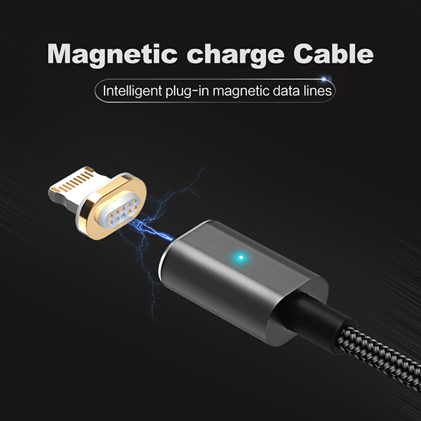 USAMS Ultra Fast Magnetic Charging Unbreakable Data Cable For Apple iPhone (6 Months Warranty)