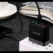 USAMS 3 USB Multi Device Fast Charger For Android/Apple Devices (6 Months Warranty)
