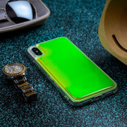 Vivo V11 Pro Neon Sand Glow in The Dark Liquid Glitter Back Case