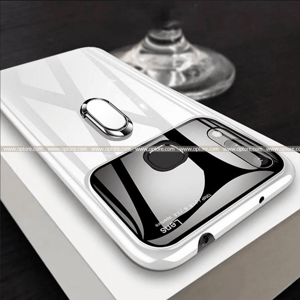 Vivo V9 Ultra Protection Mirror Effect Lens Ring Hard Case