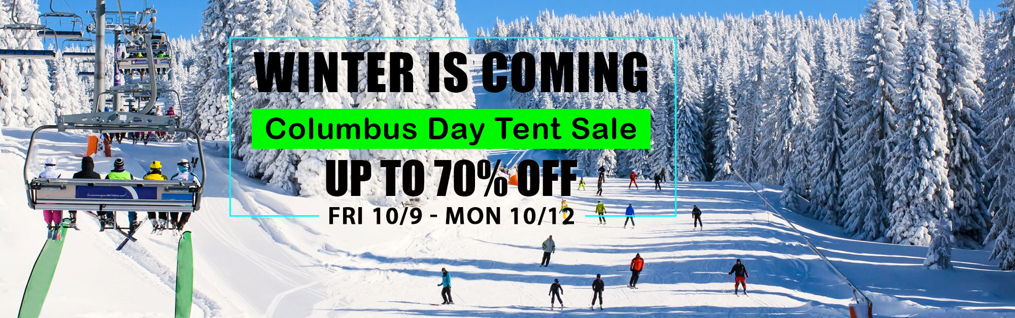 Columbus Day ski tent sale at Proctor ski in Nashua NH