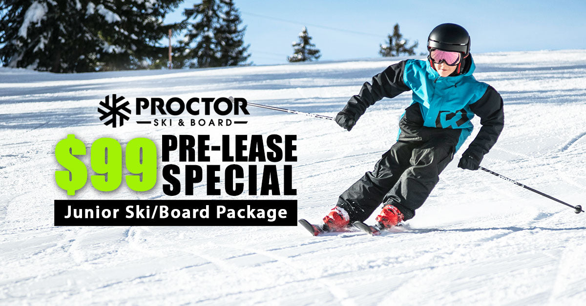 2020-2021 Ski or snowboard seasonal pre-lease promotion from $99 at Proctor Ski & Board in Nashua NH