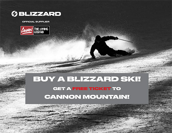 Free Cannon tickets with a purchase of Volkl or Blizzard skis
