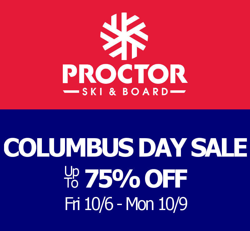 Columbus day sale, skis & Boards up to 75% off