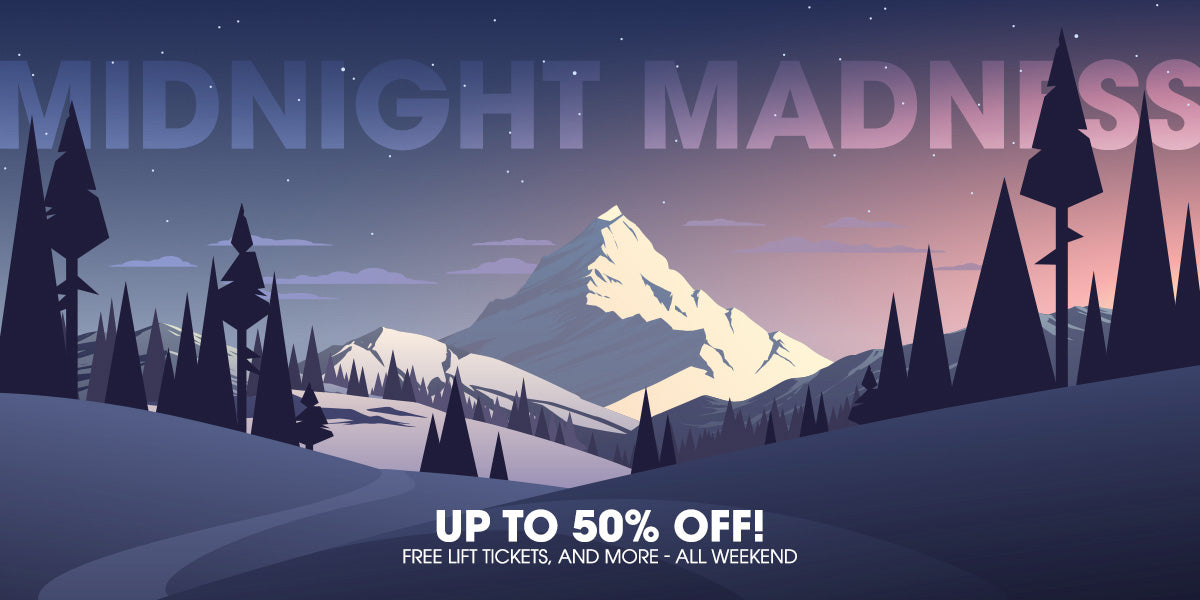 Midnight Madness Ski and Snowboard Sale 2018