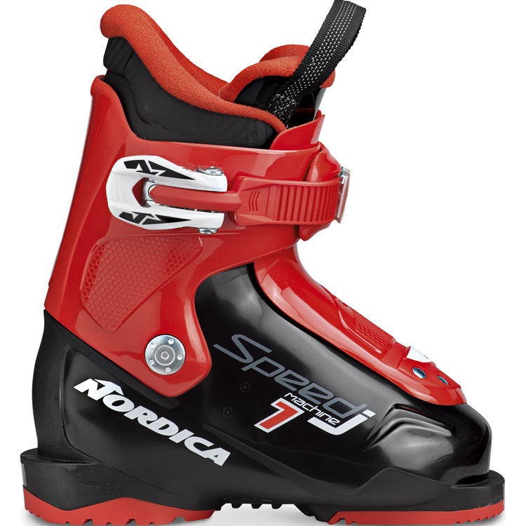 Nordica Speedmachine 1 junior ski boot from size 9 to1 Black red
