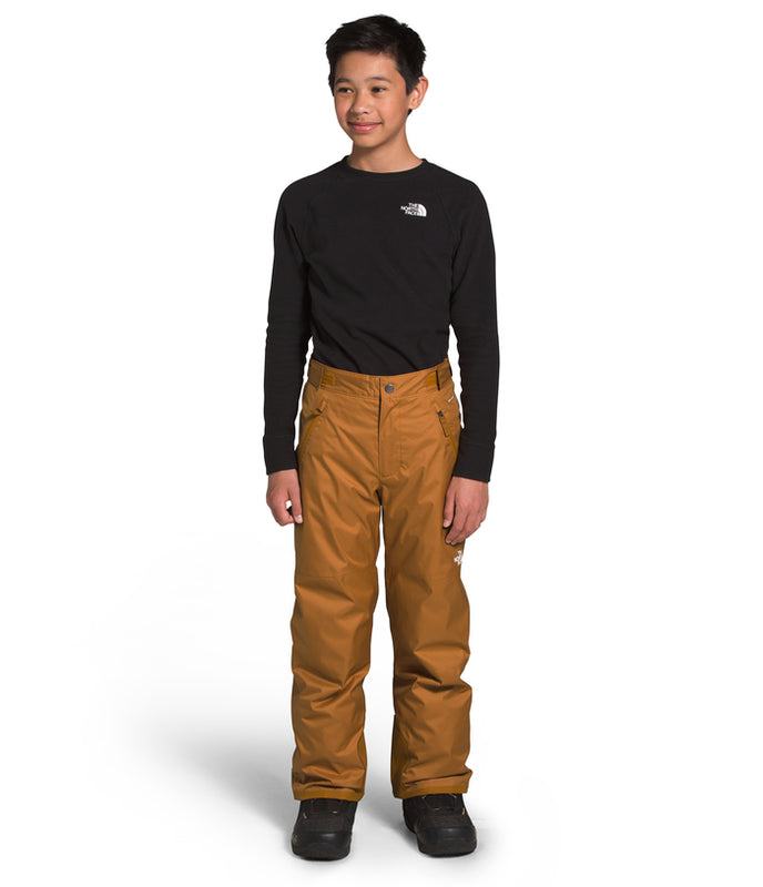 The North Face Freedom Insulated Snow Pants for boys in Timber Tan at Proctor Ski in Nashua, NH