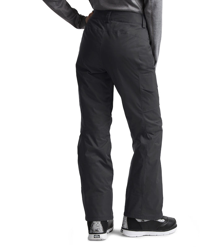 The North Face Women's Freedom Insulated Ski Pants Asphalt (back) at Proctor Ski in Nashua, NH
