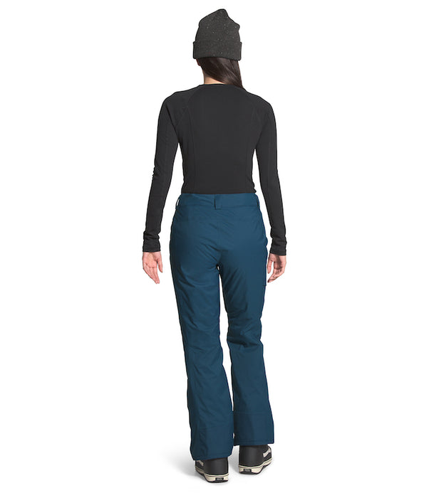 The North Face Women's Freedom Insulated Ski Pants Blue Wing Teal (back) at Proctor Ski in Nashua, NH