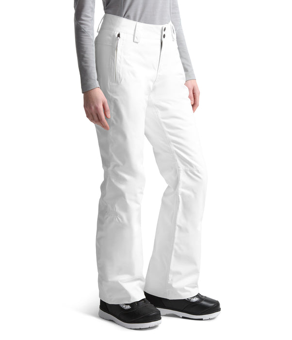 The North Face Sally Ski Pant White (side) at Proctor Ski  in Nashua, NH