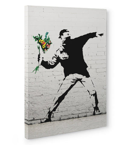 Quadro in Tela Canvas Banksy - Flower Bomber