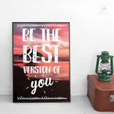 "Poster in Carta Fotografica ""Be The Best Version"" - LaMAGLIERIA"