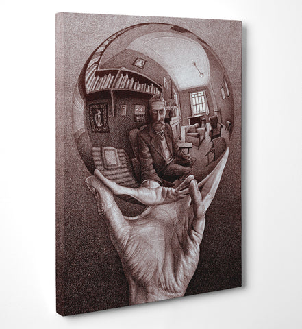 "Quadro in Tela Canvas ""Escher Mano Con Sfera"" - LaMAGLIERIA"