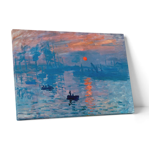 "Quadro in Tela Canvas ""Monet Impressioni All Alba"" - LaMAGLIERIA"