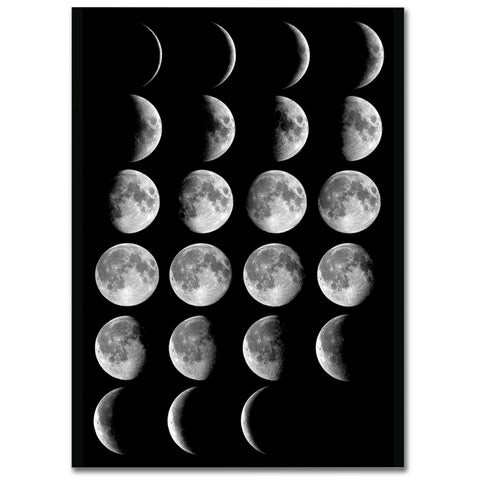"Poster in Carta Fotografica ""Moon Phases"" - LaMAGLIERIA"