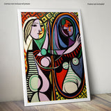 "Poster in Carta Fotografica ""Picasso Girl Before A Mirror"" - LaMAGLIERIA"